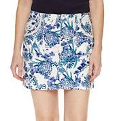 St. John's Bay Floral Cotton Blend Skorts
