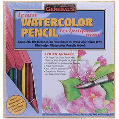 Learn Watercolor Pencil Techniques Now! Kit