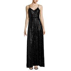 B. Smart Sleeveless Sequin Evening Gown-Juniors