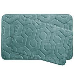 Bounce Comfort Hexagon 2-pc. Memory Foam Bath Mat Set