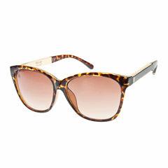 Nicole By Nicole Miller Full Frame Rectangular UV Protection Sunglasses-Womens