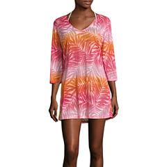 Porto Cruz Ombre Burnout Swimsuit Cover-Up Dress