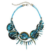 Aris by Treska Aqua Shell Bib Necklace
