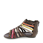 95da49007e2 Soda Kids Elrio-IIS multi color flat gladiator sandal