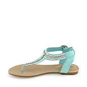 400db27b773b Breckelle s Stacy-43 mint green flat jeweled thong sandal. PreviousNext