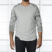Mens Camo Raglan Baseball Shirt