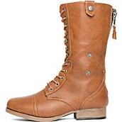 Women's Leather Combat Boot Jetta-25E