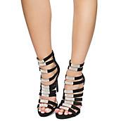 48e8bd7d58f6 BLACK Women s Phantom Strappy High Heels