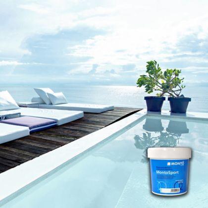 Pintura para Piscinas 12 Lts Base Agua Azul