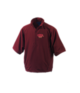 Men's Turfer Short Sleeve Links Windshirt in Maroon