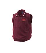 Men's Turfer Backspin Micropoly Vest in Maroon