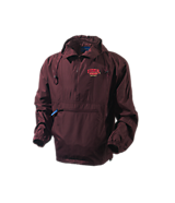 Unisex Turfer Anorak Self Packable Jacket in Maroon