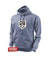 Unisex Turfer Premium Moisture Management Hoodie in Heather Gray