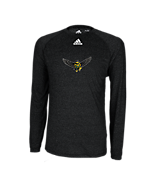 Adidas Climalite Heathered LS Tee Black