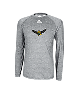 Adidas Climalite Heathered LS Tee Athletic Grey