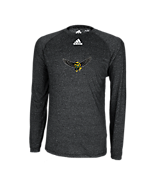 Adidas Climalite Heathered LS Tee Heathered Black