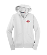 Women's Sport Tek Ladies Full-Zip Hooded Fleece Jacket in White