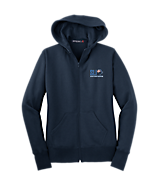 Women's Sport Tek Ladies Full-Zip Hooded Fleece Jacket in Navy