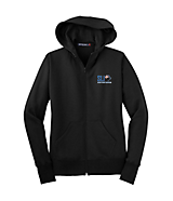 Women's Sport Tek Ladies Full-Zip Hooded Fleece Jacket in Black