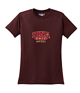 Women's Sport Tek Ladies Dry Zone; Raglan Accent T-Shirt in Maroon