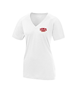 Women's Sport Tek Ladies Ultimate Performance V-Neck in White