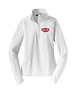 Women's Sport Tek Ladies Sport-Wick; Stretch 1/2-Zip Pullover in White