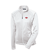 Women's Sport Tek Ladies Tricot Track Jacket in White