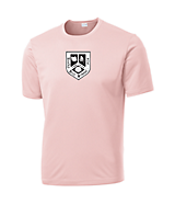 Men's Sport Tek Competitor; Tee in Light Pink