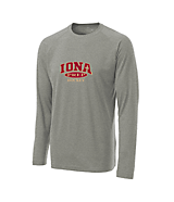 Men's Sport Tek Long Sleeve Ultimate Performance CrewLS in Heather Grey