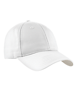 Men's Sport Tek Dry Zone; Nylon Cap in White