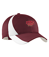 Men's Sport Tek Dry Zone; Nylon Colorblock Cap in Maroon/White