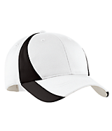 Men's Sport Tek Dry Zone; Nylon Colorblock Cap in White/Black