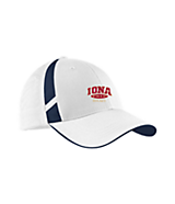 Men's Sport Tek Dry Zone; Mesh Inset Cap in White/True Navy
