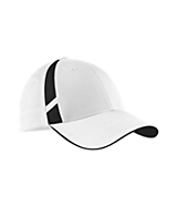 Men's Sport Tek Dry Zone; Mesh Inset Cap in White/Black
