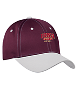 Men's Sport Tek Sport-Wick; Contrast Bill Cap in Maroon/Grey