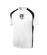 Men's Sport Tek Dry Zone; Colorblock Crew in White/Black
