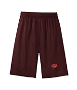 Men's Sport Tek Long Mesh Shorts in Maroon