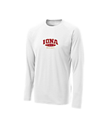 Sport Tek Youth Long Sleeve Ultimate Performance CrewLS in White