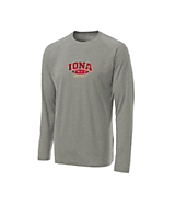 Sport Tek Youth Long Sleeve Ultimate Performance CrewLS in Heather Grey