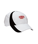 Sport Tek Youth Dry Zone; Nylon Colorblock Cap in White/Black