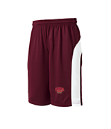 Sport Tek Youth Dry Zone; Colorblock Short in Maroon/White