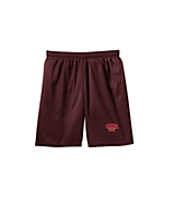 Sport Tek Youth Mesh Short in Maroon