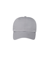 Men's Garment Washed Cotton Twill Cap in Silver