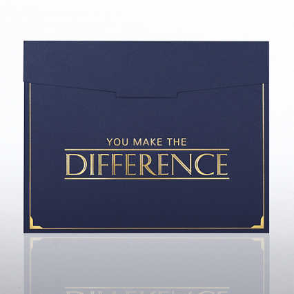 33506BL - Foil-Stamped Certificate Folder - You Make the Difference