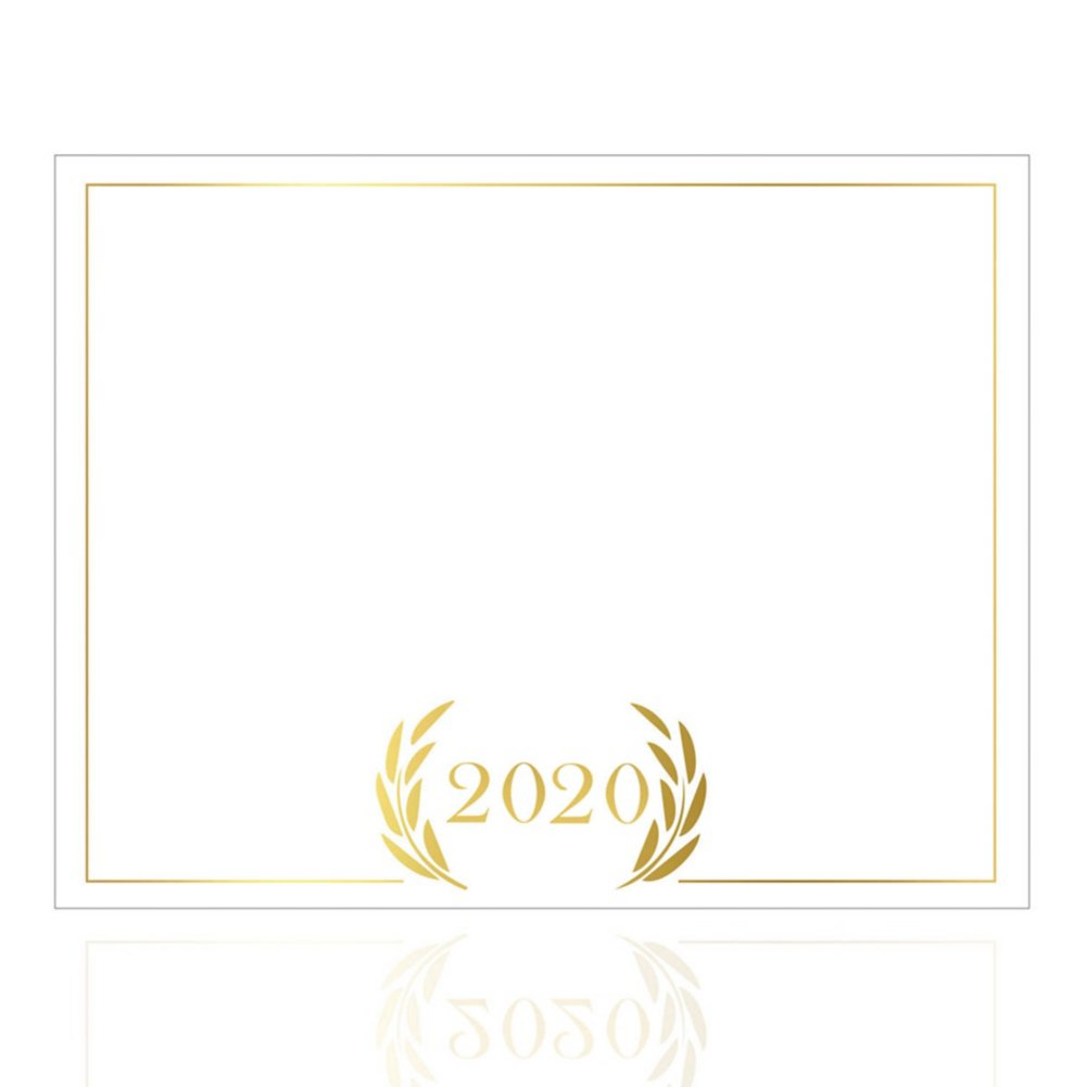 View larger image of Foil-Stamped Certificate Paper -  2020 Laurels