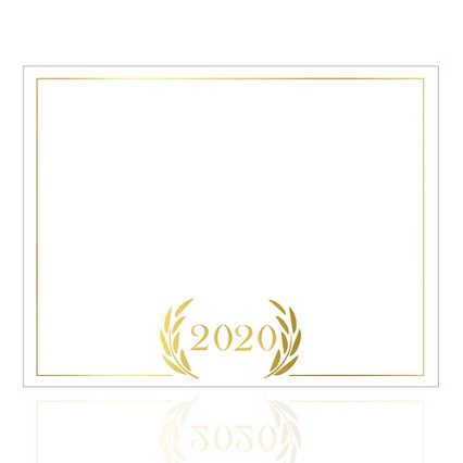 Foil-Stamped Certificate Paper -  2020 Laurels