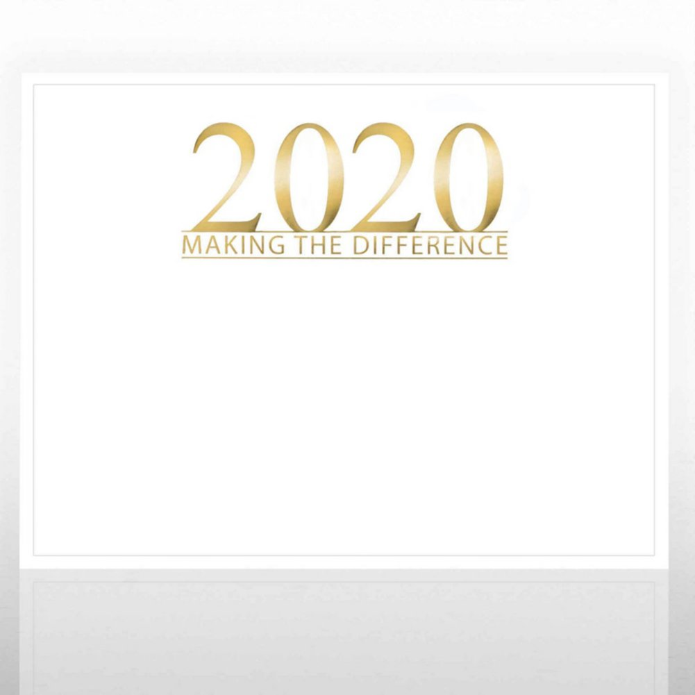 View larger image of Foil Certificate Paper - 2020 Making the Difference - White