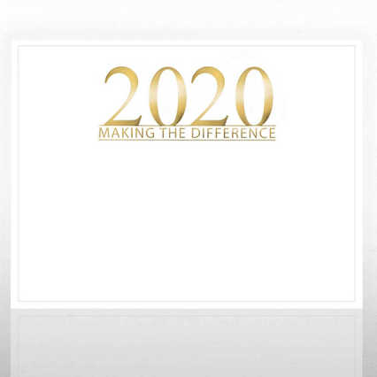 Foil Certificate Paper - 2020 Making the Difference - White
