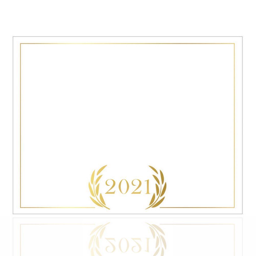 View larger image of Foil-Stamped Certificate Paper -  2021 Laurels