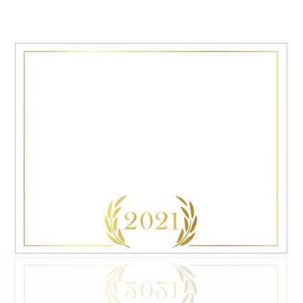 Foil-Stamped Certificate Paper -  2021 Laurels